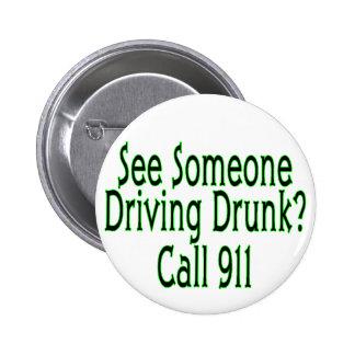 Alkohol- im Strassenverkehranruf 911 Button