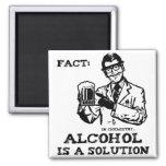 Alkohol ist eine Lösung in der Retro Chemie Quadratischer Magnet