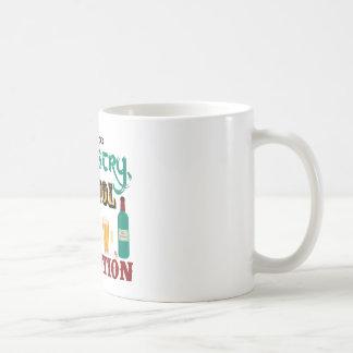 Alkohol ist eine Lösung Kaffeetasse