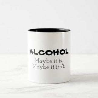 Alkohol, möglicherweise zweifarbige tasse