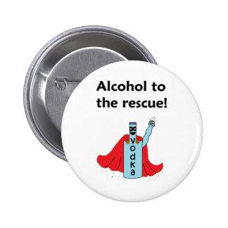 Alkohol zum Rettungs-Knopf Button