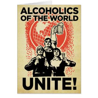 Alkoholiker der Weltgeburtstags-Karte Karte