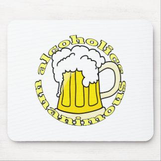 Alkoholiker einstimmig mousepad