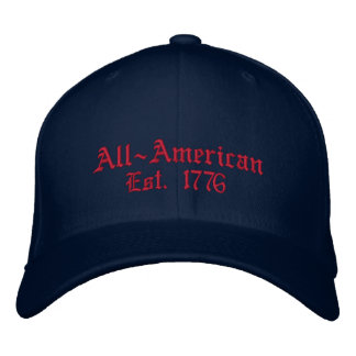All-Amerikanisch, Est. 1776 Bestickte Kappe