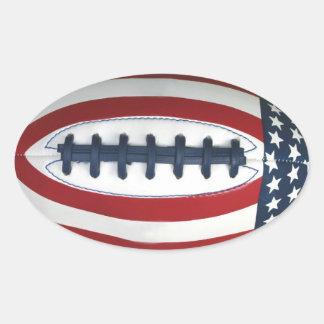 All-Amerikanischer Fußball-Aufkleber Ovaler Aufkleber