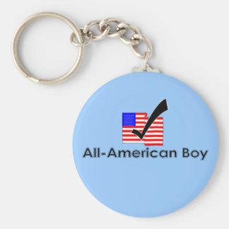 All-Amerikanischer Junge Standard Runder Schlüsselanhänger