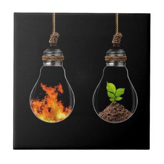 all-Element-von-Leben-in-hängen-Birne-abstrakt-wal Keramikfliese