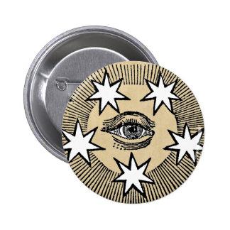 All-Sehen des Auges Runder Button 5,7 Cm