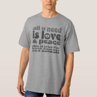 all u need ist love & peace -.- a4 hemd