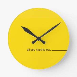 All you need is LESS :: Wanduhr