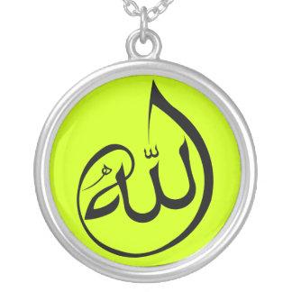 Allah-Kalligraphiehalskette Versilberte Kette