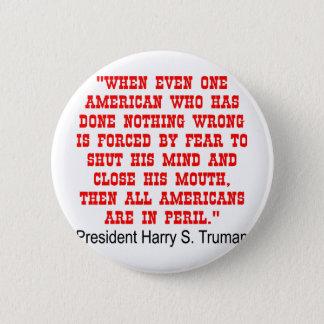 Alle Amerikaner sind in der Gefahr Runder Button 5,1 Cm
