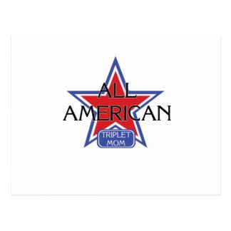 Alle amerikanische Dreiergruppe-Mamma Postkarte