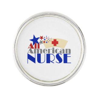 Alle amerikanische Krankenschwester Anstecknadel