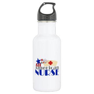 Alle amerikanische Krankenschwester Edelstahlflasche