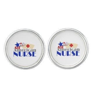 Alle amerikanische Krankenschwester Manschetten Knöpfe