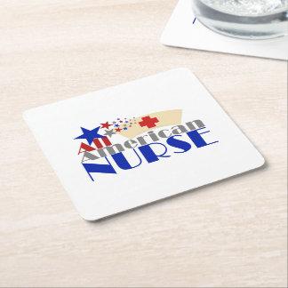 Alle amerikanische Krankenschwester Rechteckiger Pappuntersetzer