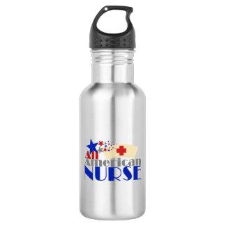 Alle amerikanische Krankenschwester Trinkflasche