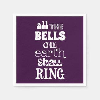 Alle Bell auf Erde schellen Papierservietten