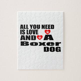 Alle benötigen Sie Liebe-Boxer-Hundeentwürfe Puzzle
