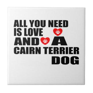 Alle benötigen Sie Liebe CAIRN-TERRIER Keramikfliese