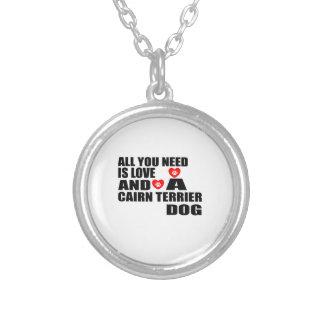 Alle benötigen Sie Liebe CAIRN-TERRIER Versilberte Kette