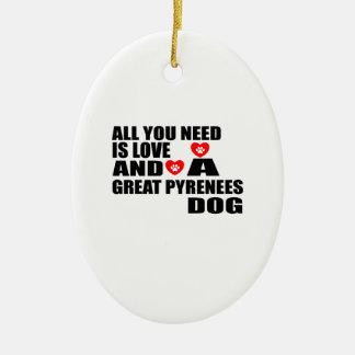 Alle benötigen Sie Liebe GROSSE Keramik Ornament