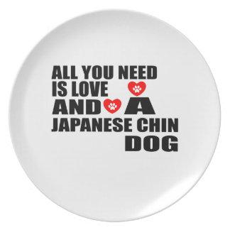 Alle benötigen Sie Liebe JAPANISCHE KINN Melaminteller