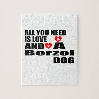 Alle benötigen Sie Liebeborzoi-Hundeentwürfe Puzzle