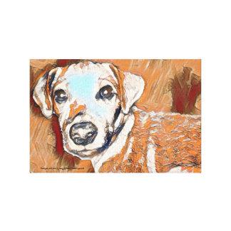 Alle bräunen Jack-Russell-Terriermalerei Leinwanddruck