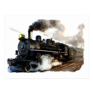 Alle Dampf-Lokomotive Postkarte