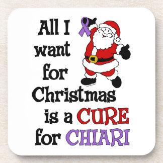 Alle, die ich für Weihnachten… Chiari will Drink Untersetzer