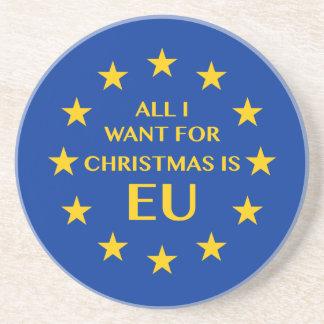 Alle, die ich für Weihnachten will, ist EU Getränkeuntersetzer
