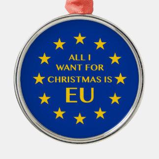 Alle, die ich für Weihnachten will, ist EU Silbernes Ornament