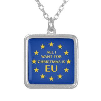 Alle, die ich für Weihnachten will, ist EU Versilberte Kette