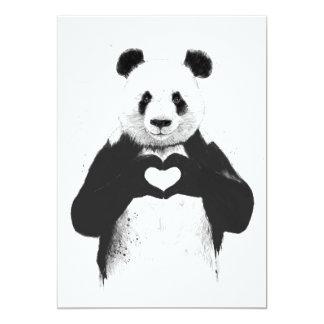 Alle, die Sie benötigen, ist Liebe Ankündigungskarten