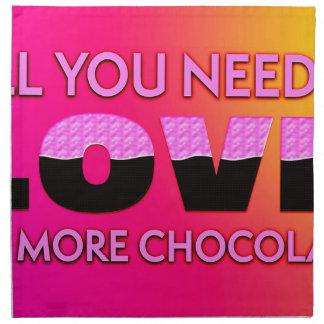 Alle, die Sie benötigen, ist Liebe oder mehr Serviette