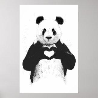 Alle, die Sie benötigen, ist Liebe Plakatdruck