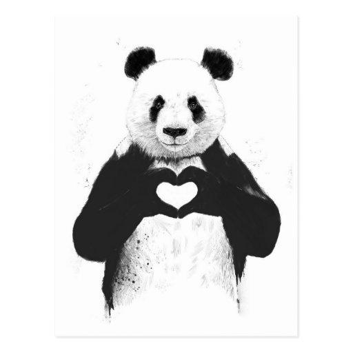 Alle, die Sie benötigen, ist Liebe Postkarten