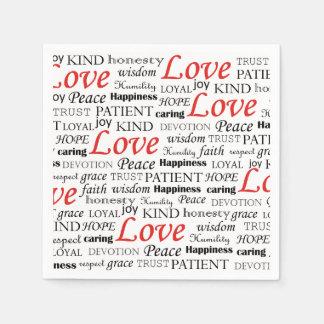 Alle, die Sie benötigen, ist Liebe Serviette