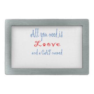 Alle, die Sie benötigen, ist Liebe und eine Rechteckige Gürtelschnalle