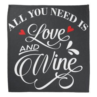 Alle, die Sie benötigen, ist Liebe-und Wein-Tafel Kopftuch