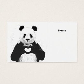 Alle, die Sie benötigen, ist Liebe Visitenkarten