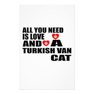 ALLE, DIE SIE BENÖTIGEN, IST LOVE TURKISH VAN CAT BRIEFPAPIER