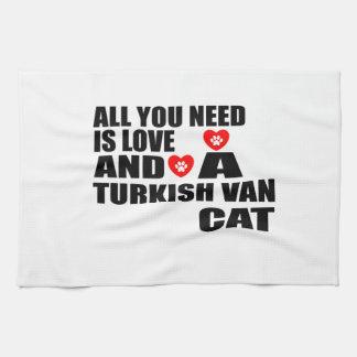 ALLE, DIE SIE BENÖTIGEN, IST LOVE TURKISH VAN CAT GESCHIRRTUCH