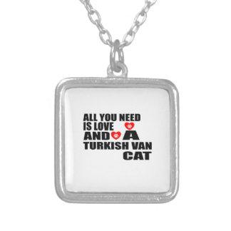 ALLE, DIE SIE BENÖTIGEN, IST LOVE TURKISH VAN CAT VERSILBERTE KETTE
