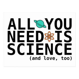 Alle, die Sie benötigen, ist Wissenschaft (und Postkarten