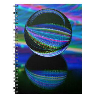 Alle Farben im Kristallball Spiral Notizblock