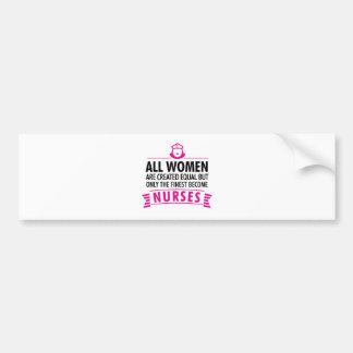 Alle Frauen sind geschaffenes Gleichgestelltes - Autoaufkleber