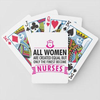 Alle Frauen sind geschaffenes Gleichgestelltes - Bicycle Spielkarten